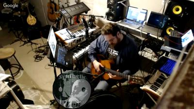 Hawke Synthetic Zen Hangout Studio Broadcast Guitar plus logo 20160303a 20160601b